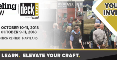 BALTIMORE MARYLAND DECK EXPO 2018 REMODELING SHOW BANNER