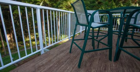 TUFDEK DESIGNER BIRCH VINYL PLANK FLOORING INSTALLED ON SUNDECK