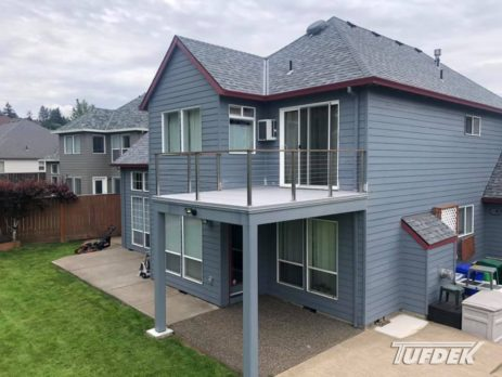 deck makeover with Tufdek