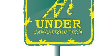 GREEN UNDER CONSTRUCTION SIGN - TUFDEK