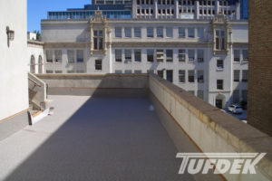 """Tufdek Supreme Graphite On Rooftop Commerical Building Nourse Theater San Fancisco CA"