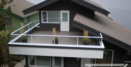 LARGE FINISHED BALCONY WITH DESIGNER AGGREGATE VINYL FLOORING BY TUFDEK