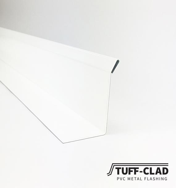 White PVC metal flashing