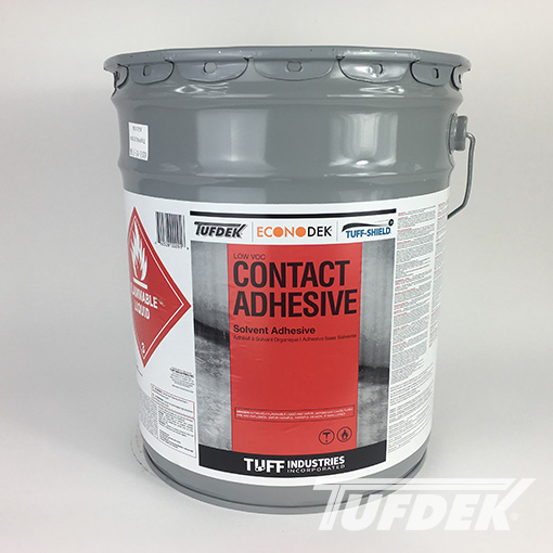 Contact Adhesive for Vinyl Decking Installation