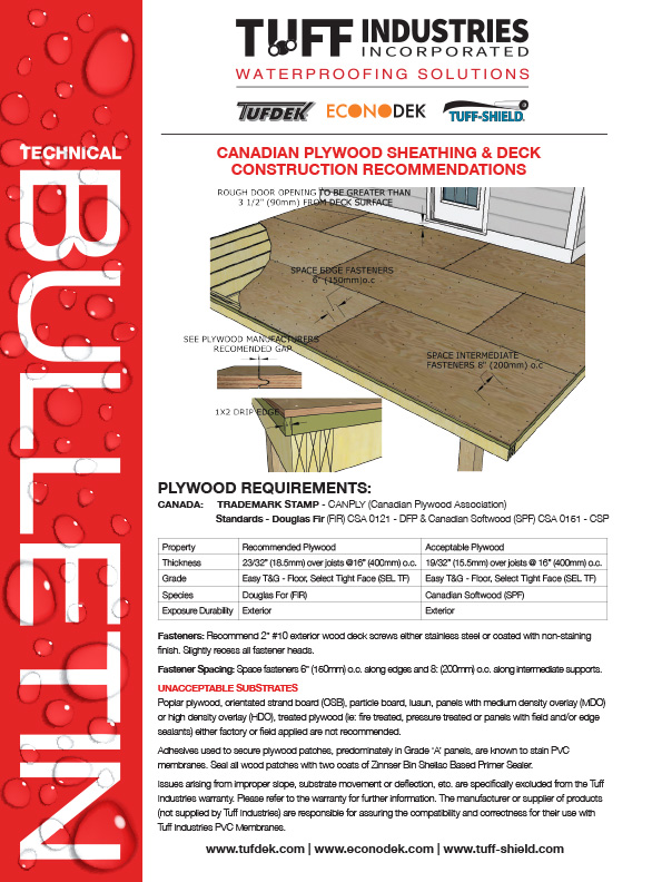Canadian Plywood Recommendations