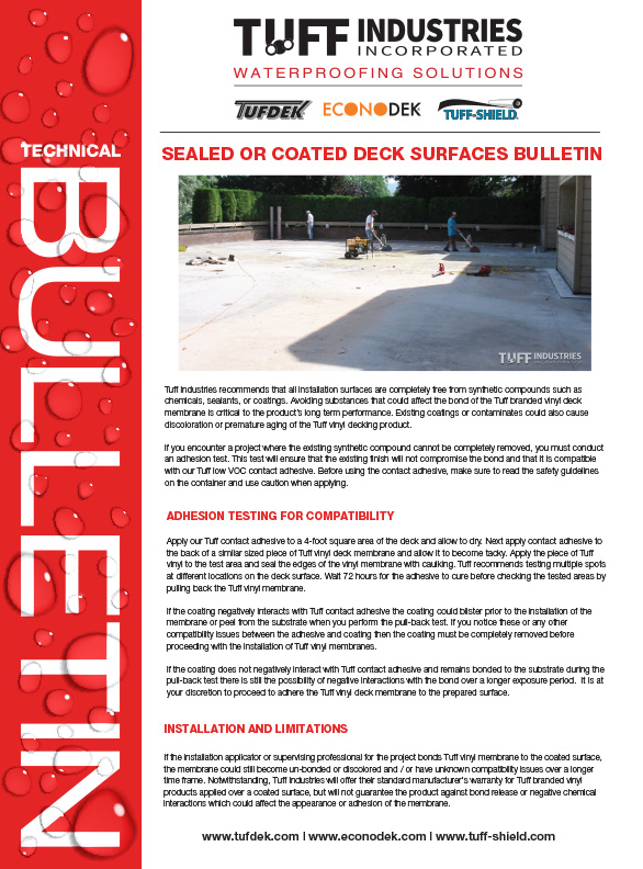 Sealed Or Coated Concrete