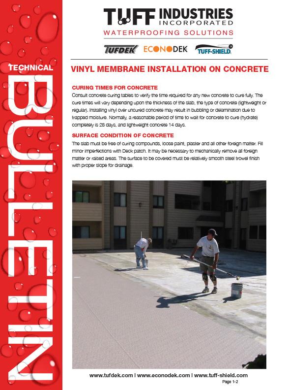 Vinyl Installation On Concrete