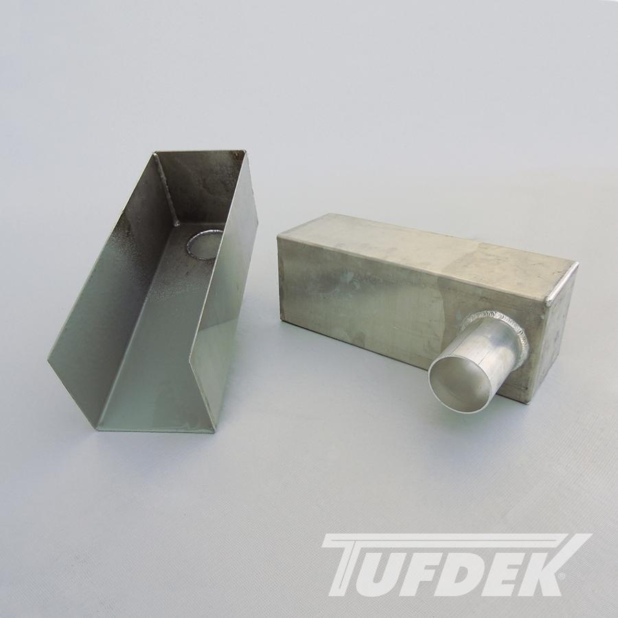 Aluminum Scupper Box For Tufdek Waterproof Vinyl Decking