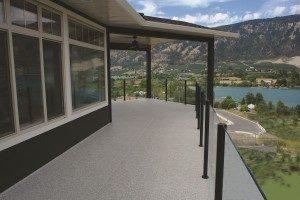 replacing vinyl deck railings