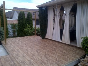 planning a vinyl patio surface