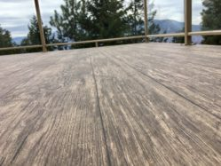 Birch Plank Vinyl Decking - view from vinyl flooring - Tufdek