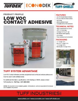Low VOC Contact Adhesive