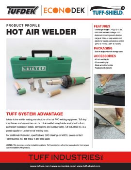 Hot Air Welder
