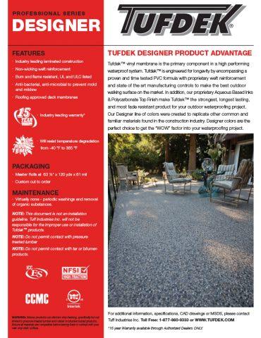 Product Profile - Tufdek Designer