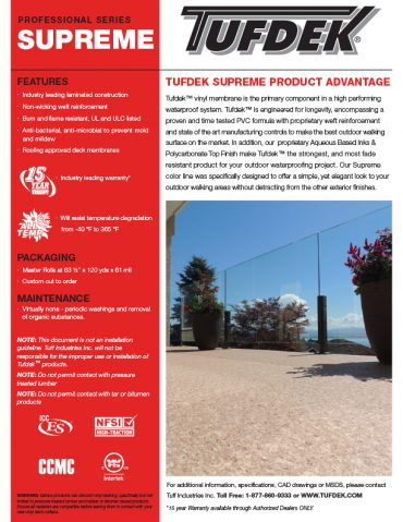 Product Profile - Tufdek Supreme
