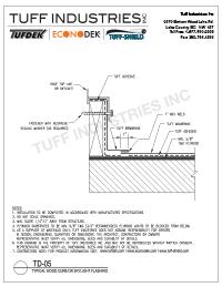 TD-05-Wood Curb or Skylight Flashing