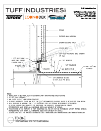 TD-08E-Strip In At Wall Tuff Clad Flashing