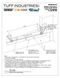 TD-16-A Door Sill Detail Field Formed