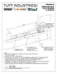 TD-16-B Door Sill Detail Field Formed