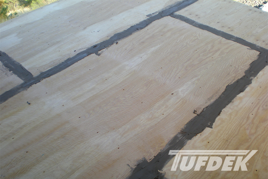 Deck Waterproofing Membrane : Vinyl cement based deck patch for tufdek waterproof decks