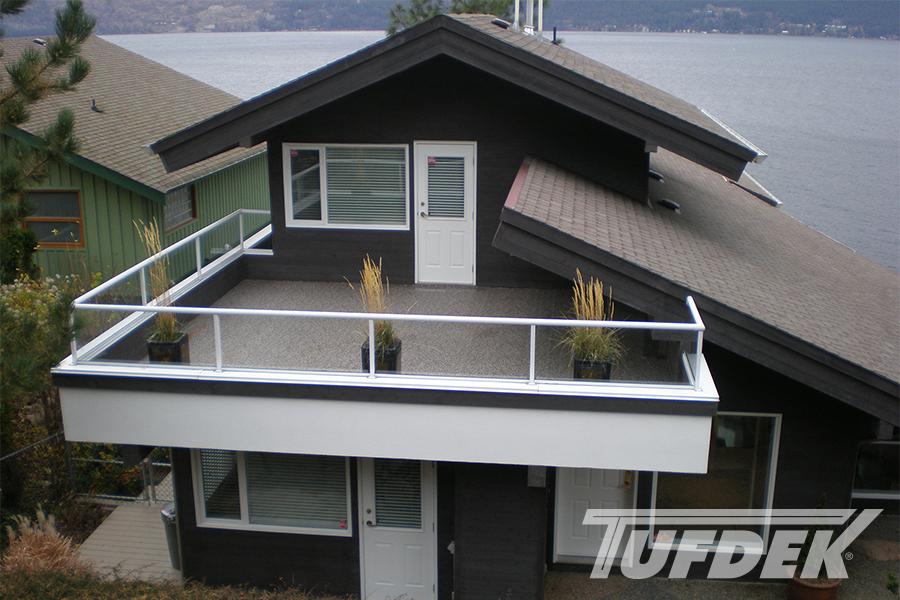 Large finished balcony with Designer Aggregate Vinyl Flooring by Tufdek