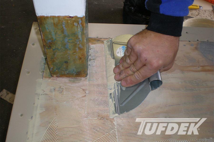 Trowel On Deck Adhesive For Waterproof Vinyl Decking