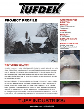 Project Profile-Historic Home Roof Deck Replacement