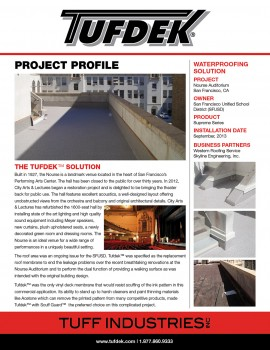 Project Profile - Nourse Auditorium