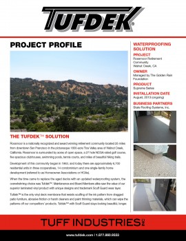 Project Profile - Rossmoor Retirement