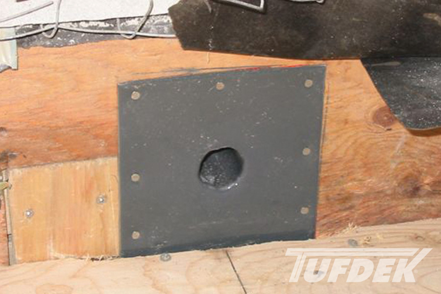 Tuff Seal Pvc Coated Overflow Roof Drain For Vinyl Decks