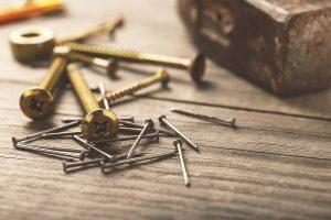 using screws nails vinyl deck building