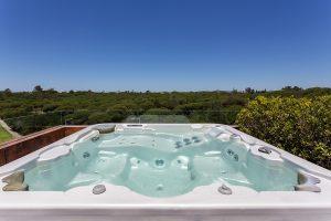 installing hot tub vinyl deck