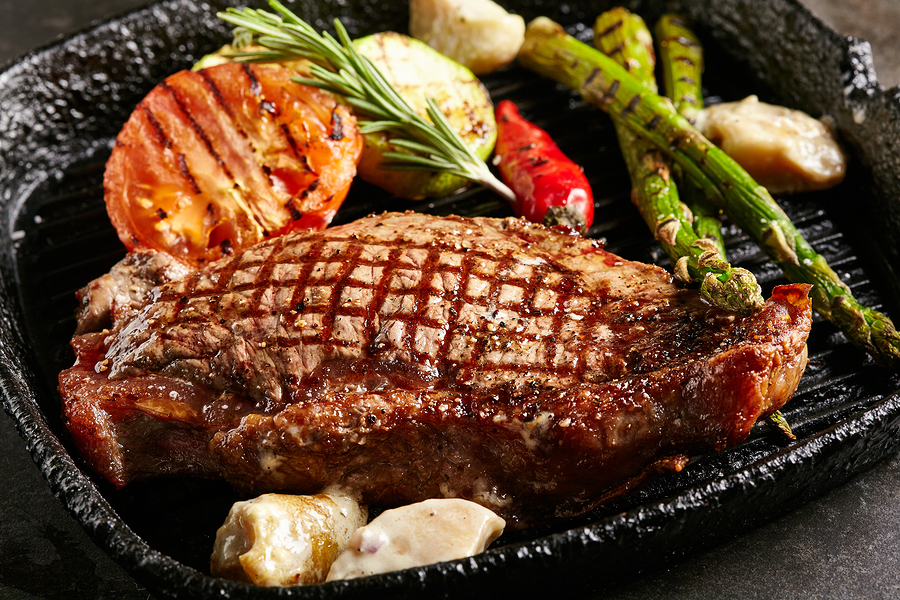 Image of BBQ'd grilled steak meal - Tufdek