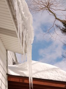 how to work with ice dams on vinyl roof deck