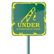 Green Under Construction Sign - Tufdek