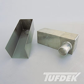 Aluminum Box Scupper for Tufdek PVC Membrane Systems