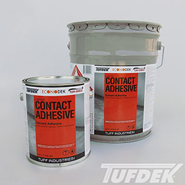 Low VOC Contact Adhesive for Vinyl Decking Installation
