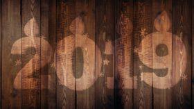 New Year stylized 2019 letters on Wood - Tufdek