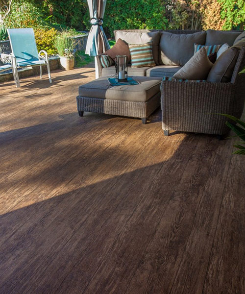 Tufdek Deck Colors Designer Birch Vinyl Plank Flooring
