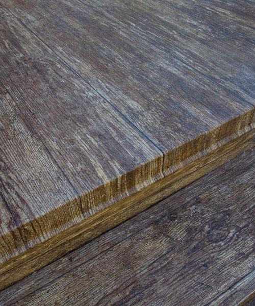 Tufdek deck colors designer birch vinyl plank flooring for Vinyl decking material