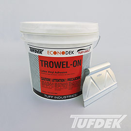 Trowel On Adhesive for Vinyl Decking