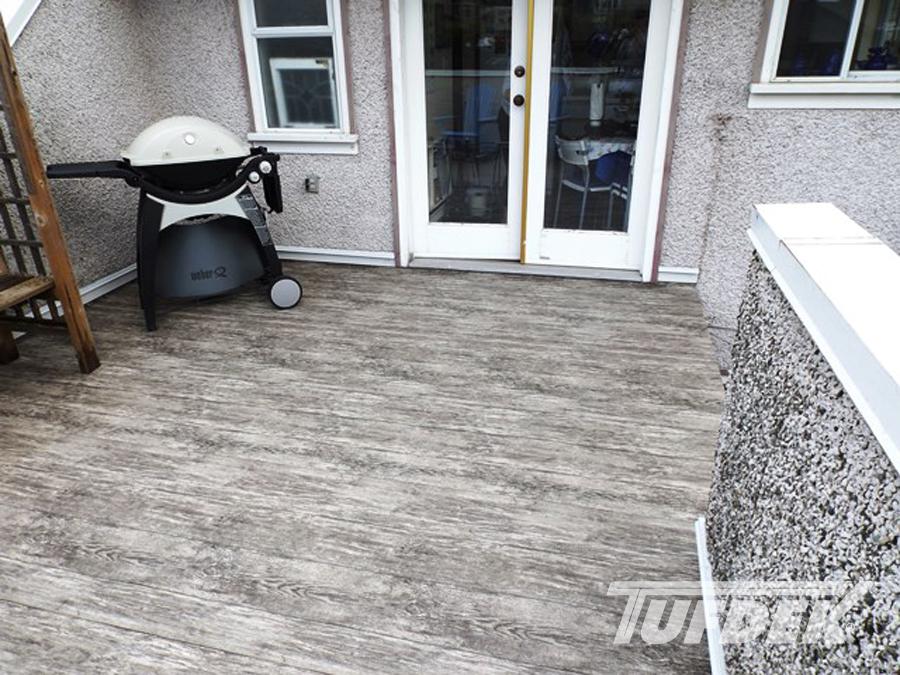 Tufdek residential waterproof vinyl decking photo gallery for Vinyl decking material